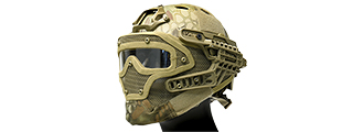 AC-820M WOSPORT TACTICAL G4 SYSTEM BUMP HELMET MASK W/ GOGGLES (MAD)