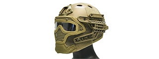 AC-820T WOSPORT TACTICAL G4 SYSTEM BUMP HELMET MASK W/ GOGGLES (TAN)