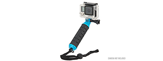 G-FORCE COMPACT HAND GRIP FOR GOPRO CAMERAS (BLACK / BLUE)