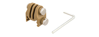 AC-879T GOPRO ATTACHMENT FOR 20MM PICATINNY RAILS (TAN)
