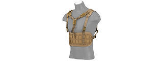 AC-882T LASER CUT AIRSOFT CHEST RIG W/ SLING (TAN)