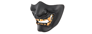 AC-883B YOKAI OGRE HALF FACE MASK W/ SOFT PADDING (BLACK/GOLD)