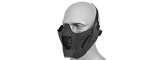 AC-885B ADJUSTABLE RETRO MECHA HALF FACE MASK (BLACK)
