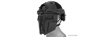 AC-886B ADJUSTABLE T-SHAPED MESH FULL FACE MASK (BLACK)