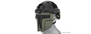 AC-886G ADJUSTABLE T-SHAPED MESH FULL FACE MASK (OD GREEN)