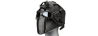 AC-892BB WOSPORT TACTICAL HELMET W/ NVG & TRANSFER BASE (BLACK)