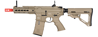 ICS CXP-UK1 CAPTAIN EBB KEYMOD M4 AIRSOFT AEG RIFLE - TAN