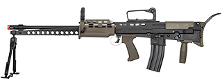 ICS L86 A2 AIRSOFT LMG AEG RIFLE W/ BIPOD - BLACK/OD GREEN
