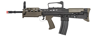 ICS L85 A2 AIRSOFT CARBINE AEG RIFLE - BLACK/OD GREEN
