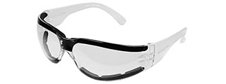 BOBSTER SHIELD III SHOOTING GLASSES ANSI Z87 RATED - CLEAR LENS