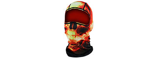 ZANHEADGEAR AIRSOFT TACTICAL HADES BALACLAVA FULL HEAD MASK - RED