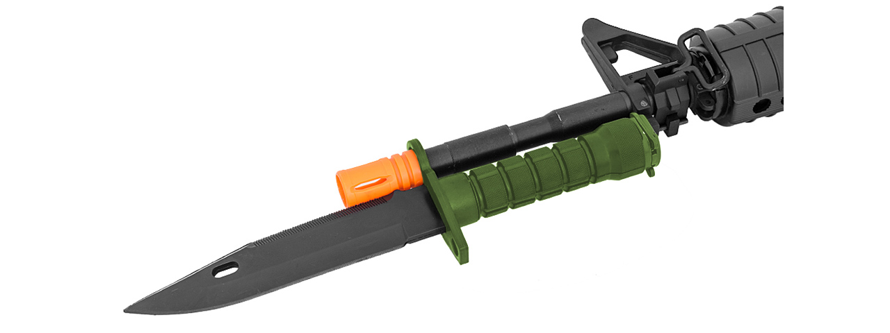 CA-07G M9 DUMMY BAYONET W/ BLADE COVER FOR M4 / M16 AIRSOFT (OLIVE DRAB)