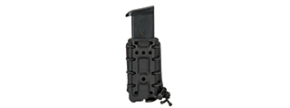CA-1219BB HIGH SPEED AIRSOFT INTERCHANGEABLE PISTOL MAGAZINE BELT CLIP POUCH (BLACK)