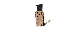 CA-1219TB HIGH SPEED AIRSOFT SLIM PISTOL MAGAZINE BELT CLIP POUCH FOR M1911-TYPE (TAN)