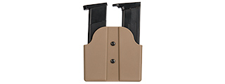CA-1239T DUAL POLYMER PISTOL MAGAZINE CARRIER (TAN)