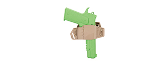 CA-1242T ABS POLYMER TACTICAL PISTOL WRAP BELT HOLSTER (TAN)