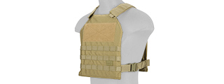 CA-1512TN STANDARD ISSUE 1000D NYLON PLATE CARRIER (TAN)