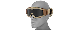 CA-223T MULTI-LENS KIT AIRSOFT SAFETY GOGGLES (TAN)