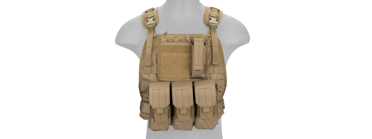 CA-301T MOLLE PLATE CARRIER VEST (TAN)