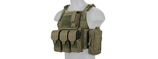 CA-305GN NYLON TACTICAL ASSAULT PLATE CARRIER (OD)
