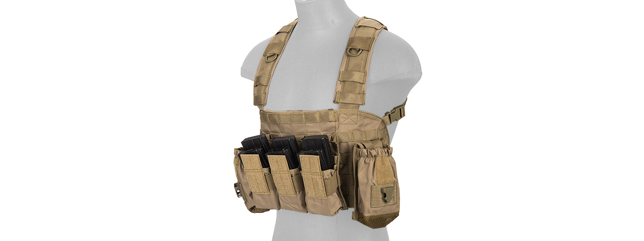 CA-307TN NYLON MODULAR CHEST RIG (TAN)