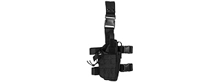 CA-322BN 1000D NYLON TORNADO DROP LEG HOLSTER (BLACK)