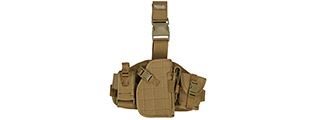 CA-324TN 1000D NYLON MOLLE PLATFORM DROP LEG HOLSTER (TAN)