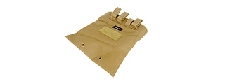 CA-341TN AIRSOFT LARGE FOLDABLE MOUNTABLE DUMP POUCH (TAN)