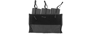 CA-376BN 1000D NYLON TRIPLE INNER M4 MAG POUCH FOR CA-311