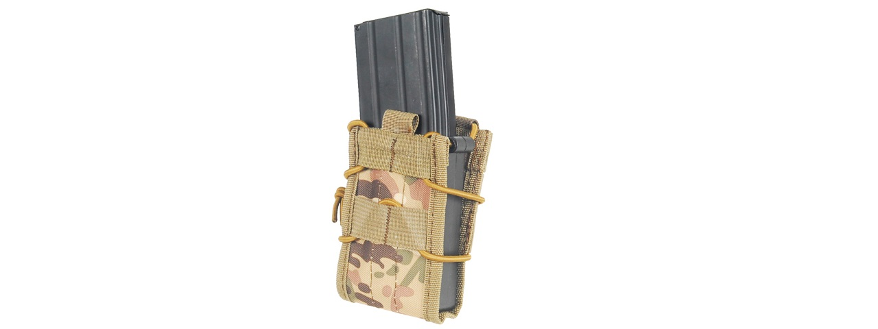 LANCER TACTICAL SINGLE MOLLE MAGAZINE POUCH FOR M4 / M16 (CAMO)