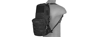 CA-880BN 1000D NYLON TACTICAL MOLLE HYDRATION BACKPACK (BLACK)
