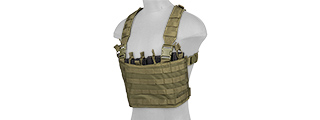 CA-882GN LIGHT WEIGHT CHEST RIG W/ MAG POUCH (OLIVE DRAB)