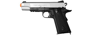 "COLT AIRSOFT 1911 PISTOL CO2 POWERED FULL METAL ""RAIL GUN"" BLOWBACK"