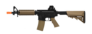 CYBERGUN COLT M4A1 CQB-R AEG MILITARY SERVICE RIFLE REPLICA - BLACK/TAN
