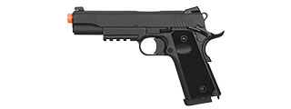 DOUBLE BELL GAS BLOWBACK CQB 1911 TACTICAL AIRSOFT PISTOL (BLACK)