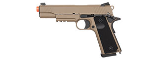 DOUBLE BELL M1911 TACTICAL GBB AIRSOFT PISTOL - LOW VELOCITY (TAN)