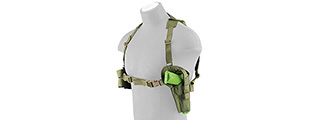 FY-HRC02OD SHOULDER HOLSTER AND MAGAZINE POUCH (OD GREEN)