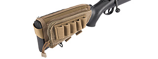 FY-PHO08CB RIFLE CHEEK REST W/ ACCESSORY POUCH (COYOTE BROWN)