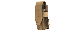 FY-PHP04CB MOLLE SINGLE 9MM PISTOL MAGAZINE POUCH (COYOTE BROWN)