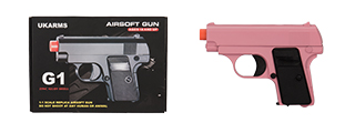 G1P COMPACT SPRING VEST POCKET AIRSOFT PISTOL (PINK)
