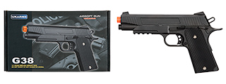 G38B SPRING POWERED 1911 METAL TRAINING PISTOL (BLACK)