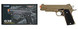 G38T SPRING POWERED 1911 METAL TRAINING PISTOL (DARK EARTH)