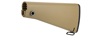 GOLDEN EAGLE FIXED POLYMER FULL LENGTH AIRSOFT RIFLE STOCK (TAN)
