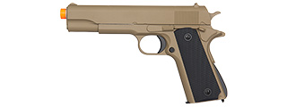 GE3003T M1911 W/ METAL SLIDE AIRSOFT SPRING PISTOL (TAN)