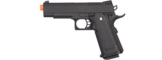 GE3006 GOLDEN HAWK SPRING AIRSOFT HI CAPA PISTOL W/ METAL SLIDE (BLACK)