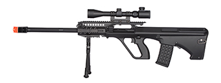 JG0446A QUAD RIS AUG MARKSMAN AIRSOFT AEG RIFLE (BLACK)