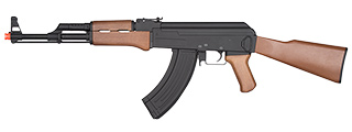 JG0506T FULL METAL AK-47 FULL STOCK FAUX WOOD AEG RIFLE (BLACK)