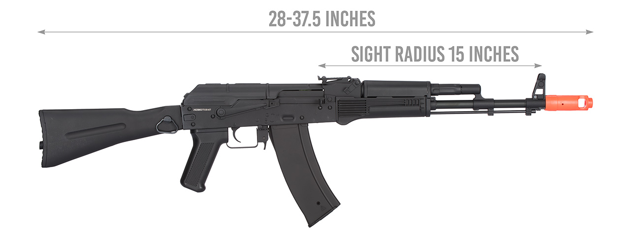 JG AK-74M FULL METAL ELECTRIC BLOWBACK EBB AIRSOFT AEG RIFLE - Click Image to Close