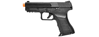 KWA Airsoft GBB Pistol ATP-C Compact with Accessory Rail - BLACK