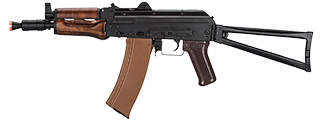 LCT AKS74U ASSAULT RIFLE AEG W/ WOOD FOREGRIP (BLK)
